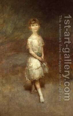 Study of a young girl by Ambrose McEvoy - Reproduction Oil Painting