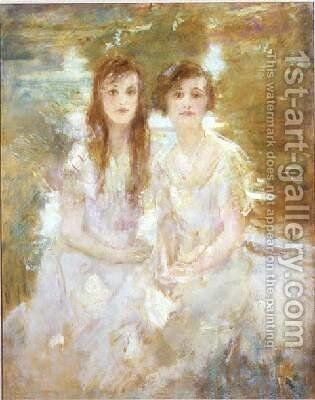 Study of two young girls by Ambrose McEvoy - Reproduction Oil Painting