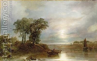 Salmon Nets by Horatio McCulloch - Reproduction Oil Painting