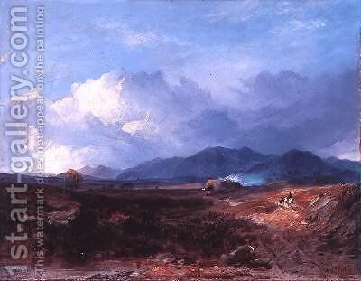 A Drove Road in the Western Highlands 1850 by Horatio McCulloch - Reproduction Oil Painting