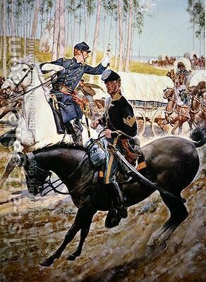 Federal Uniforms of the 1863 Cavalry Sergeant and Ordnance Officer by H.C. McBarron - Reproduction Oil Painting