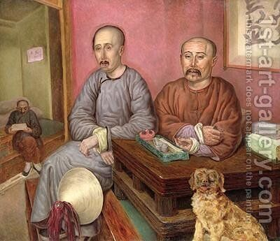 Chinese Merchants by Carl Peter Mazer - Reproduction Oil Painting
