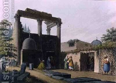 Mosque at Latachia Plate 1 in Syria from Views in the Ottoman Dominions 1810 by Luigi Mayer - Reproduction Oil Painting