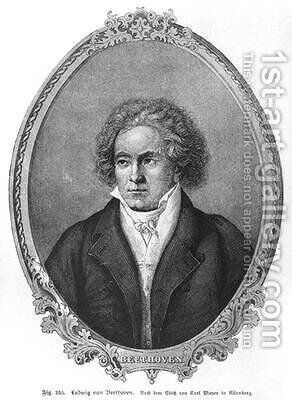 Ludwig van Beethoven 1770-1827 by (after) Mayer, Carl - Reproduction Oil Painting