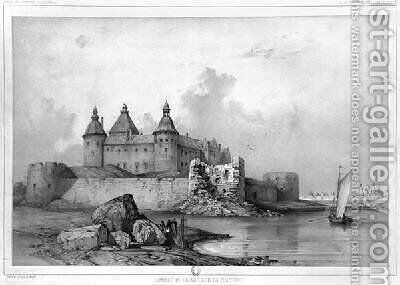 Kalmar Castle by Auguste Etienne Francois Mayer - Reproduction Oil Painting