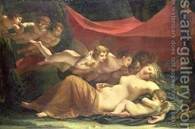 The Sleep of Venus and Cupid 1806 by Constance Marie Mayer-Lamartiniere - Reproduction Oil Painting