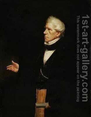 Portrait of Henry Peter Baron Brougham and Vaux 1778-1868 by J. Mayall - Reproduction Oil Painting