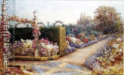 The Garden Path 1887 by Elizabeth Cameron Mawson - Reproduction Oil Painting