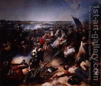 Battle of Fleurus 26th June 1794 1837 by Jean Baptiste Mauzaisse - Reproduction Oil Painting