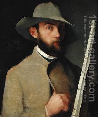 Self Portrait 1890 by Charles Maurin - Reproduction Oil Painting