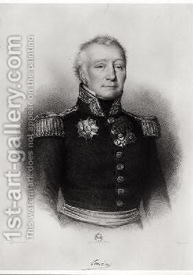 Admiral Linois 1761-1848 by Antoine Maurin - Reproduction Oil Painting