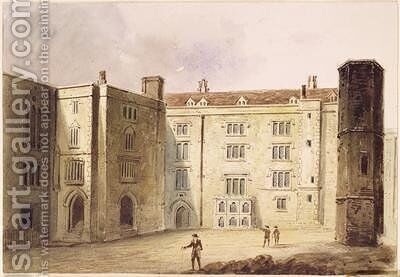 The Courtyard at Bridewell Palace 1880 by E.H. Maund - Reproduction Oil Painting