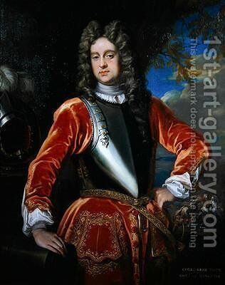 Portrait of Colonel George Bate 1714 by James Francis Maubert - Reproduction Oil Painting