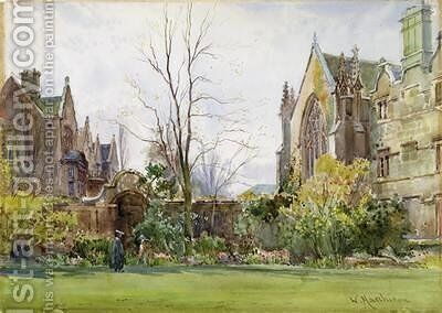 Radcliffe Quad University College Oxford 2 by William Matthison - Reproduction Oil Painting