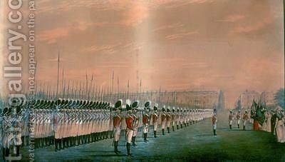 Presentation of Colours to the Second Regiment of Royal East India Volunteers at Lords Cricket Ground London 1797 by Henry Matthews - Reproduction Oil Painting