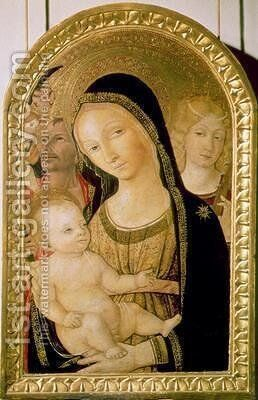 Madonna and Child with SS Catherine and Christopher 1470 by di Giovanni di Bartolo Matteo - Reproduction Oil Painting