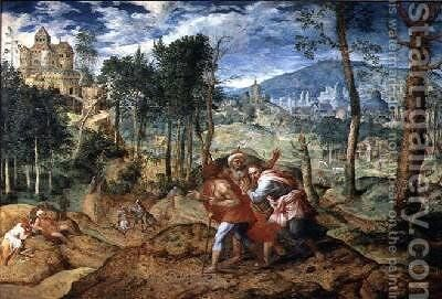 Christ on the Road to Emmaus by Jan van Mastel - Reproduction Oil Painting
