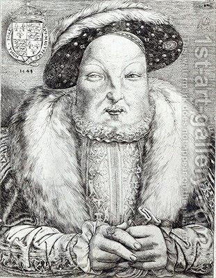 Portrait of Henry VIII 2 by Cornelis Massys - Reproduction Oil Painting