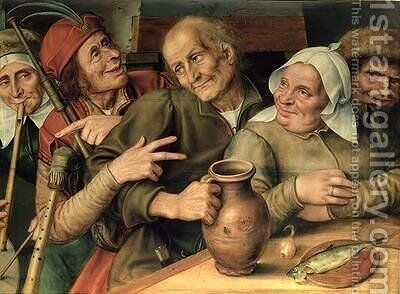 Jovial Company 1564 by Jan Massys - Reproduction Oil Painting