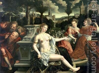 Susanna and the Elders 1567 by Jan Massys - Reproduction Oil Painting