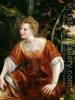 Young Girl in a Landscape by Jan Massys - Reproduction Oil Painting