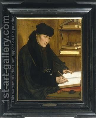 Portrait of Erasmus of Rotterdam by Jan Massys - Reproduction Oil Painting