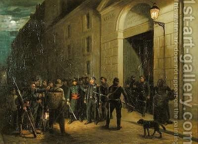 Arrest of the Generals Lecomte and Clement Thomas during the Paris Commune by Emmanuel Masse - Reproduction Oil Painting