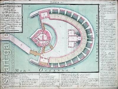 Plan of the Chapus Fort from Traite de Fortifications by Claude Masse - Reproduction Oil Painting