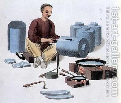 A Canister Maker by (after) Mason, Major George Henry - Reproduction Oil Painting