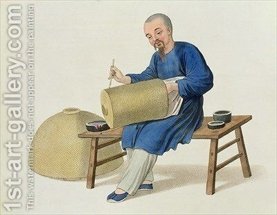 A Lantern Painter by (after) Mason, Major George Henry - Reproduction Oil Painting