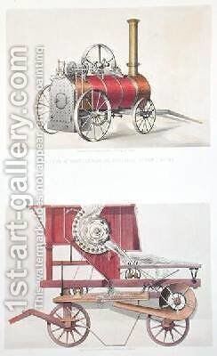 Clayton and Shuttleworths Portable Steam Engine and Garratts Improved Threshing Machine by (after) Mason, H. - Reproduction Oil Painting