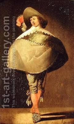 A Young Gentleman by Jan the Younger Martszen - Reproduction Oil Painting