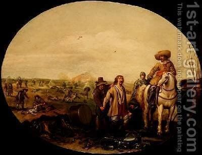 The Aftermath of Battle by Jan the Younger Martszen - Reproduction Oil Painting