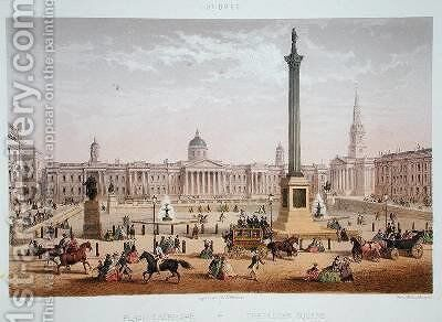 Trafalgar Square 1862 by Achille-Louis Martinet - Reproduction Oil Painting
