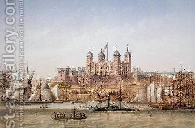 Tower of London 1862 by Achille-Louis Martinet - Reproduction Oil Painting