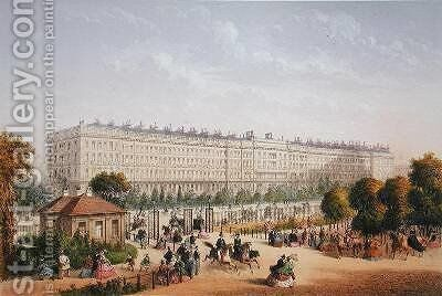 Hyde Park Gardens 1862 by Achille-Louis Martinet - Reproduction Oil Painting