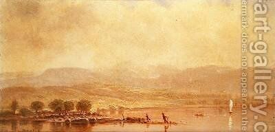 Misty Morning on the Hudson River by Homer Dodge Martin - Reproduction Oil Painting