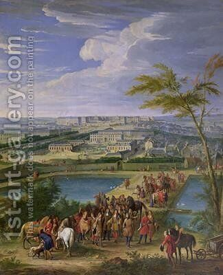 The Town and Chateau of Versailles from the Butte de Montboron by Jean-Baptiste Martin - Reproduction Oil Painting