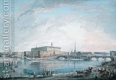 View of Stockholm from the Fersen Terrace by Elias Martin - Reproduction Oil Painting