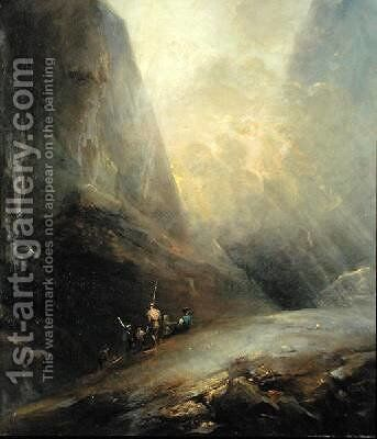 Mountain Landscape with Banditti 1780 by Elias Martin - Reproduction Oil Painting