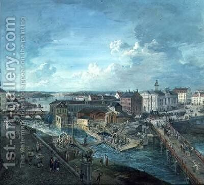 View of Stockholm from the Royal Palace 2 by Elias Martin - Reproduction Oil Painting