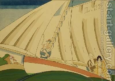 Yachting 1920 by Charles Martin - Reproduction Oil Painting