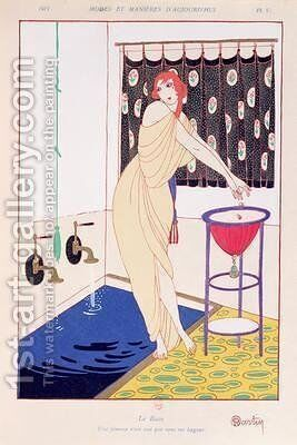 The Bath illustration from Modes et Manieres dAujourdhui 1913 by Charles Martin - Reproduction Oil Painting