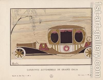 Carrosse Automobile de Grand Gala by Charles Martin - Reproduction Oil Painting