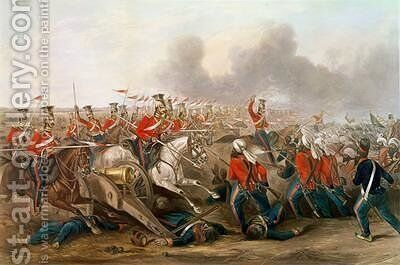 Charge of the 16th Queens Own Lancers at the battle of Aliwal 1846 by Henry Martens - Reproduction Oil Painting