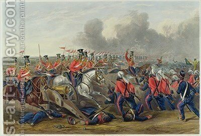 Charge of the 16th by (after) Martens, Henry - Reproduction Oil Painting