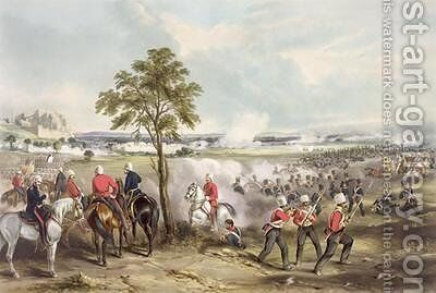 The Battle of Goojerat on 21st February 1849 by (after) Martens, Henry - Reproduction Oil Painting