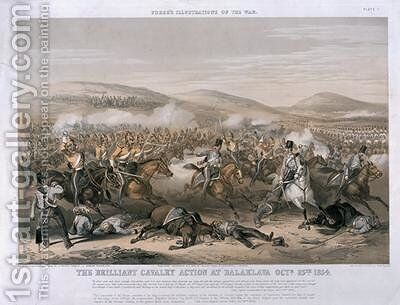 The Brilliant Cavalry Action at the Battle of Balaclava by (after) Martens, Henry - Reproduction Oil Painting