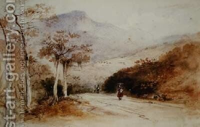 The Country Road by Conrad Martens - Reproduction Oil Painting