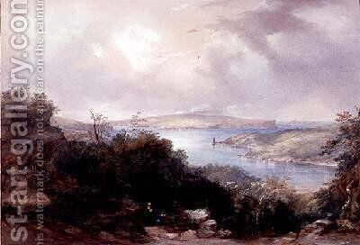 Sydney harbour looking towards the North Head by Conrad Martens - Reproduction Oil Painting